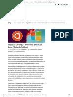 Instalar Ubuntu e Windows Em Dual-boot (Guia Definitivo) - Todo Espaço Online
