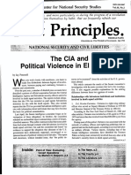 "First Principles Vol. 10, No. 2. ""The CIA and Political Violence in El Salvador,"" Center for National Security Studies, December 1984"