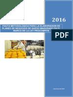 Pauta Metodologica de Queso Madurado[plan de negocio]