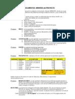 Documentos Memoria Del Proyecto