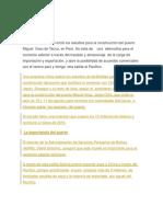 El Gobierno Peruano Inició Los Estudios Para La Construcción Del Puerto Miguel