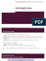 20 & 22 Session Activity Based Costing.