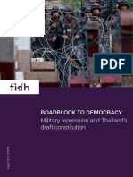 Roadblock to democracy - Military repression and Thailand's draft constitution