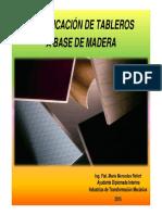 17. Clasificacíón de Tableros a Base de Madera