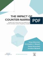 """Impact of Counter Narratives"""