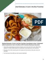 Franchisechatter.com-Franchise Costs Detailed Estimates of Jack in the Box Franchise Costs 2015 FDD