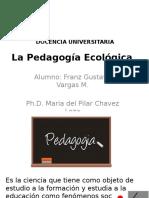 La Pedagogía Ecológica FRANZ VARGAS