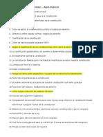 Cuestionario para preparación de examen privado en área pública