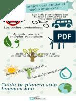 Consejos para cuidar el medio ambiente por Ismael Plascencia Núñez.
