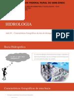 Aula 03 - Características Fisiográficas Da Área de Drenagem