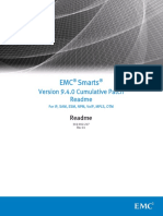 Docu58687 Smarts SAM, IP, NPM, MPLS, ESM, OTM and VoIP Version 9.4.0 Cumulative Patch Readme Installation Instructions