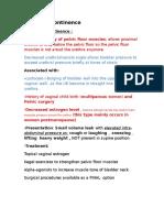 Urinary Incontinence, Kegel Exercises, Nabothian Cyst, Postpartum Thyroiditis