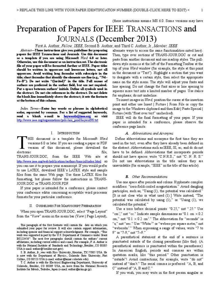 IEEE Plantilla IEEE Articulos de Investigacion 2013 y Traduccion ...