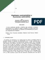 Hipotesis Contrastables y Funciones Estimables