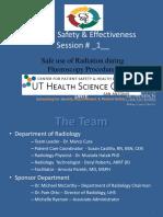 Safe Use of Radiation During Fluoroscopy Procedures