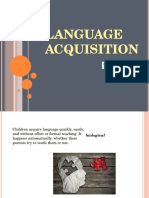 Child Language Acquisition for exposition