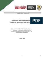 CONVOCATORIA QUE REALIZA EL GOBIERNO REGIONAL DE CUSCO.  UE400 CAS-04