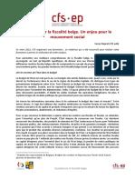 Questionner La Fiscalite Belge