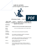 LAW03 Criminal Offences for AQA