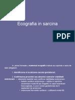 Ecografia in Sarcina