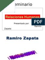 Ramiro Zapata Relaciones Humanas AASANA COCHABAMBA 24 25 26 FEB 2011