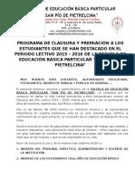 Clausura San Pio