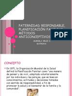 Paternidad Responsable, Planificación Familiar, Métodos Anticonceptivos