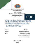 Petroleo y Ambiente, Plan de Contingencia