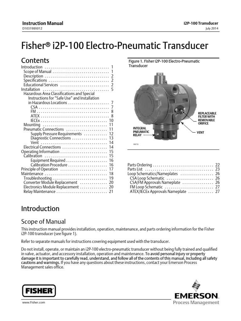 Ip Fisher Valve Electrical Wiring Relay Working Principle