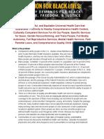 BLM Universal Health Care Policy Brief