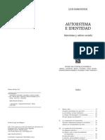 Autoestima e Identidad - Luis Hornstein