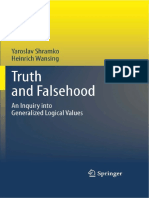 (Trends in Logic 36) Yaroslav Shramko, Heinrich Wansing-Truth and Falsehood_ an Inquiry Into Generalized Logical Values-Springer (2012)