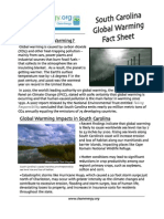 South Carolina Global Warming Fact Sheet