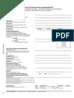 German Visa form