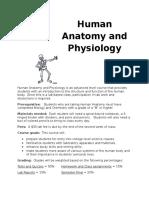 human anatomy syllabus-val