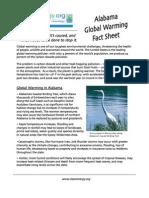Alabama Global Warming Fact Sheet
