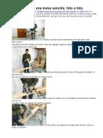 Como Fabricar Una Mesa Sencilla