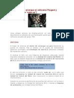 Arranque en Vehículos Peugeot y Citroën