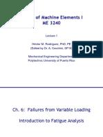 ME 3240 - Lecture 1 - Fatigue