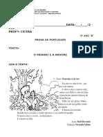 pROVA TERCEIRO ANO - Cópia.docx