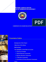 Revised BSA Curriculum Approved by CHED Technical Panel