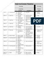 curriculum timeline