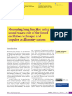 Measuring lung function using sound waves