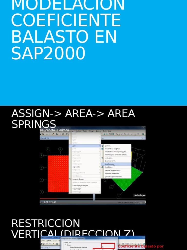 Modelacion Coeficiente Balasto En Sap2000