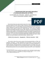 Barrientos (2016) El Discurso Dominante Del Mercado Educativo