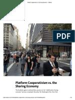 Platform Cooperativism Vs