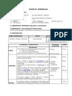 SESIÓN DE  APRENDIZAJE 1° capacidad emprendedora   - 2010 -FREEMIND