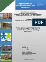 Estructura Del Anteproyecto-Objetivos