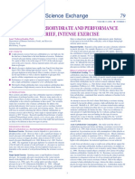 Dietary Carbohydrate and Performance
