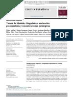 Tumor de Klatskin Diagnóstico, Evaluación Preoperatoria y Consideraciones Quirúrgicas - Cirugía Española